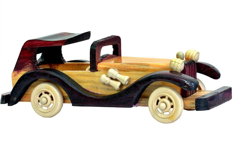 YADNESH 木製 ハンドクラフト クラシックカーのレプリカギフト 赤ちゃんのおもちゃ ホームデコレーション ショーピース アンティークコレクション レプリカ (7.7インチ)   B07M9L71DW
