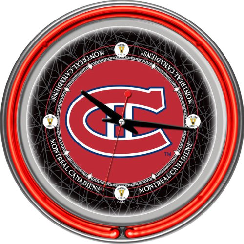 NHL Montreal Canadiens Chrome Double Ring Neon Clock, 14