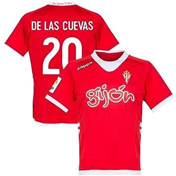 Kappa 12 – 13 Sporting Gijón Away Jersey + de Las Cuevas 20 (diseño de