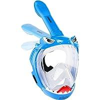 Full Face Snorkel Mask for Kids, Shark Shape Kids Snorkeling Set 180 Degree Panoramic View, Safe Anti-Leak Anti-Fog…