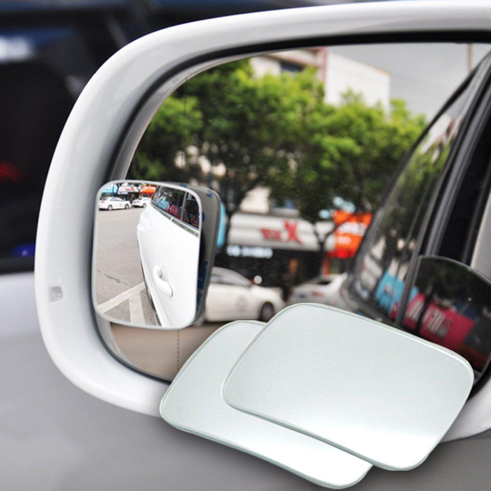 1 paire de r/étroviseurs dangle lisse et grand angle transparent ajustement direct accessoires de voiture surface l/ég/èrement incurv/ée 64 x 46 cm angle mort r/églable
