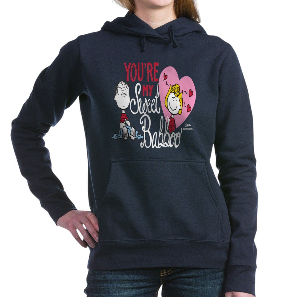 Peanuts My Sweet Babbo Pullover Classic Comfortable Hooded Shirts