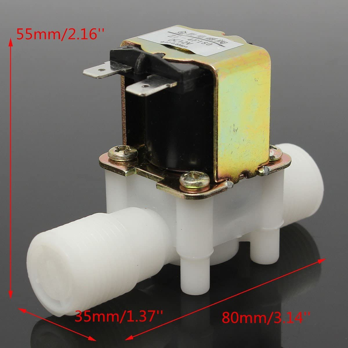 """1//2/"""" N//C 12V DC Magnetic Electric Solenoid Valve Water Air Inlet Flow Switch"""