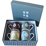 Bridge Mug Playing Card Collection Set of 4 Mugs Contemporary Design