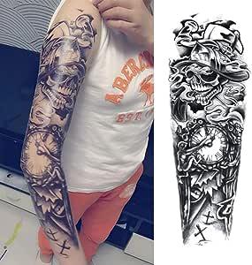 7pcs Boho oro metálico tatuaje mangas del brazo de la manga del ...