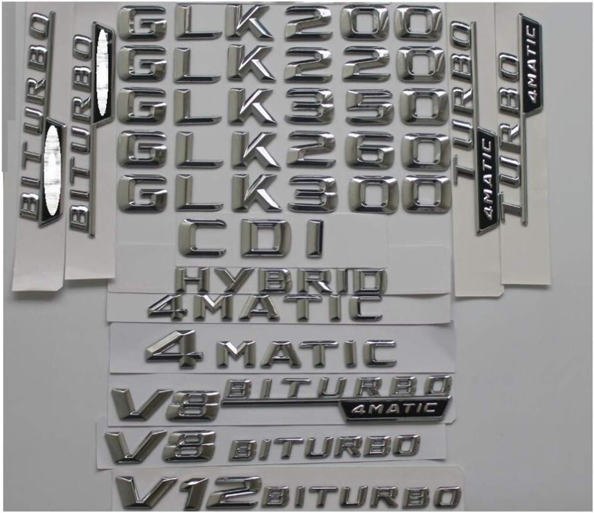 chisushangm schwarz matt CLA 45 Zoll Kofferraum Buchstaben hinten W/örter Emblem Buchstabe selbstklebend CLA45 AMG