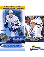 2017/18 Upper Deck Series 1 NHL Hockey EXCLUSIVE HUGE Factory Sealed Blaster Box with 12 Packs PLUS Bonus Connor McDavid ROOKIE! Box Includes TWO(2) Young Guns Rookie Cards! Absolutely Loaded! WOWZZER