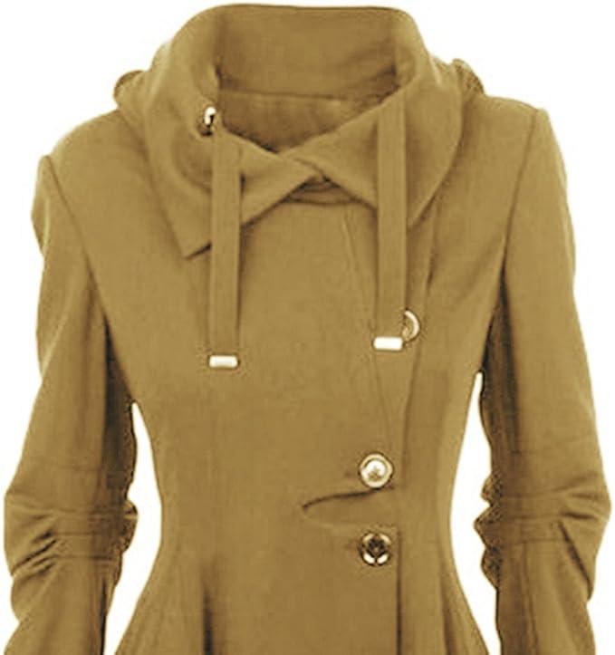 Coats Casual Manteau Capuche Hiver Top Bouton Veste Asymétrique Outwear Cardigan Manches À Femme Fashion Blouson Longues Hoodie Automne Decha Trench 5RLq3A4j
