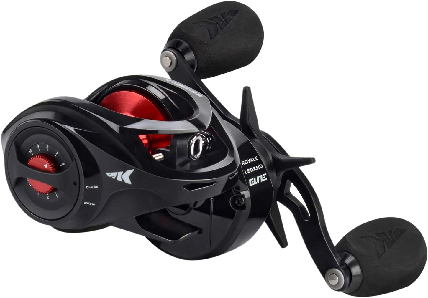 KastKing Royale Legend Baitcasting Reels – Elite Series Fishing Reel, Palm Perfect Compact Design, Ergo-Twist Opening, Swing Wing Side Cover, 4 Coded Gear Ratios, 11 1 BB, Magnetic Braking System.