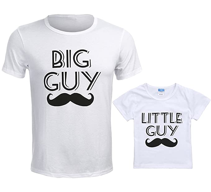 eea3d39a8 Big Guy & Little Guy Dad and Me Family Matching Set Father Son T-Shirts