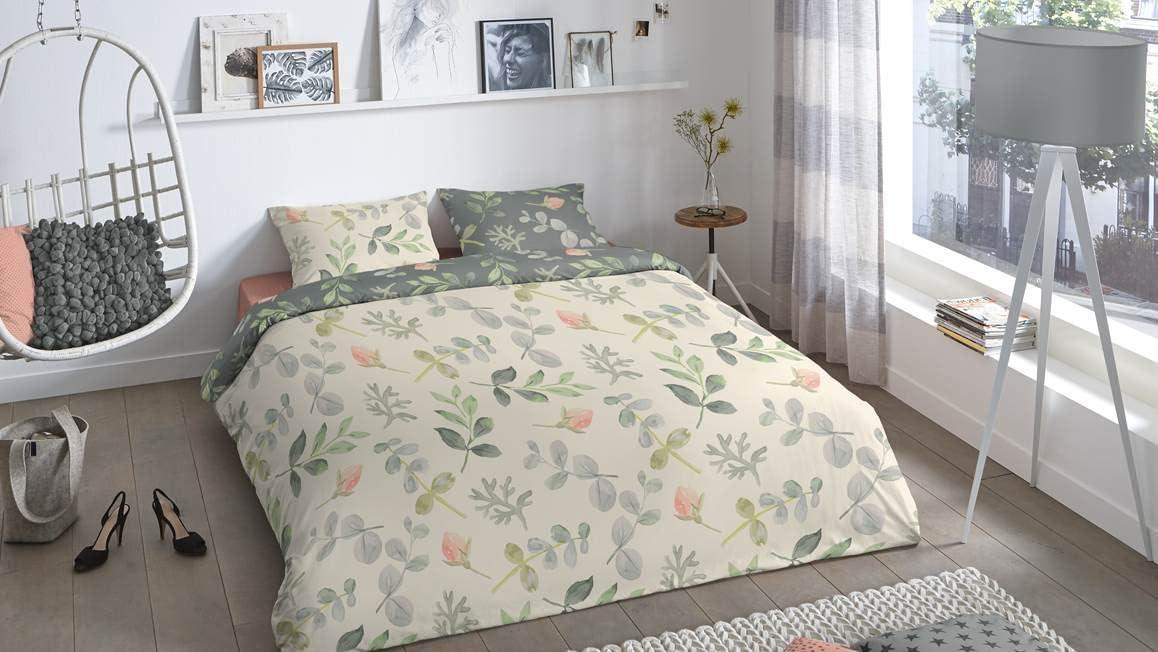 fleurs 135 x 220 cm avec une taie doreiller 80 x 80 cm coton Good Morning Emma Parure de lit