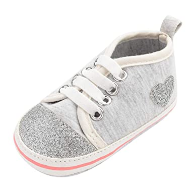 Cute Baby Girls Love Heart Print Shoes Infant Toddler Anti-slip Sneakers First Walkers Mother & Kids