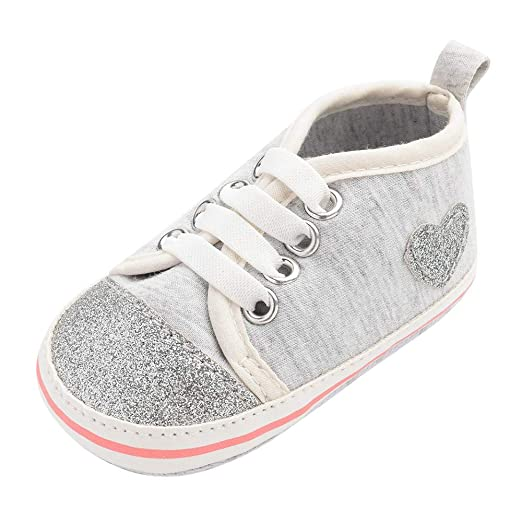 a8f1bd8748e5a Amazon.com: Baby Infant Boy Girl Walking Shoes for 0-18 Months ...