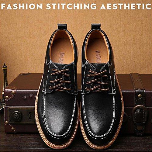 Men's Work Shoes Casual PU Leather Fashion Shoes Leather Business Flat Oxfords Classic Black qEwa0RdZ