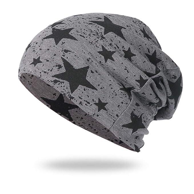8868cbfd4525f9 URSING Mützen Herren Damen Baumwolle Slouch Beanie Mütze Skull Cap  Kopfbedeckung für Chemo, Sport,