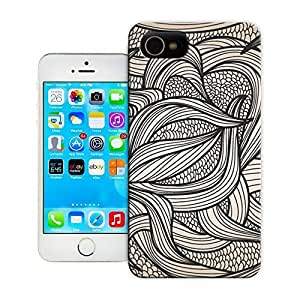 Unique Phone Case Black and white leaves Hard Cover for 5.5 inches iphone 6 plus cases-buythecase