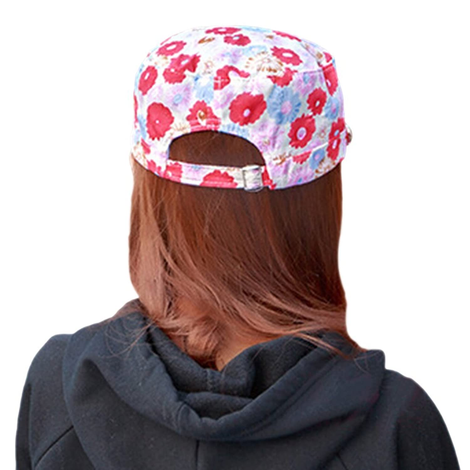 Smile YKK Women Spring Summer Outdoor Lace Floral Flat Hat Newsboy Cap