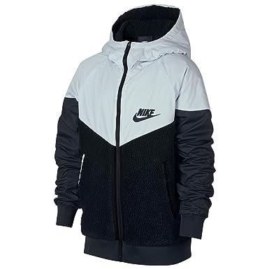 db2caa6c5a72 Amazon.com  Nike Boy s Sportswear Windrunner Sherpa Jacket  Clothing