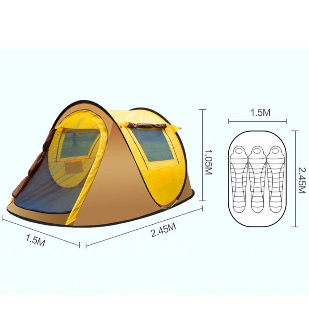 BHXUD Outdoor-Zeltzelt Strandzelt Automatik 3-4  Herrenchen Wildes Strandzelt Outdoor-Zeltzelt Ultra Light Multi-Person-Zeltzelt,SkyBlau 750733