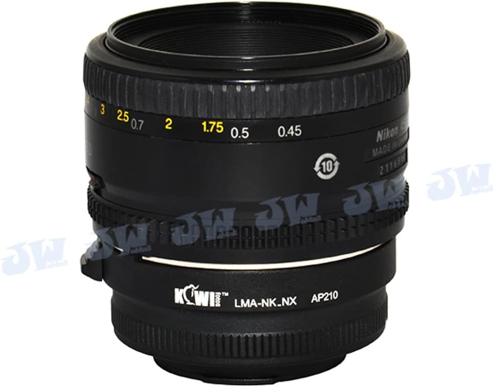 Kiwifotos LMA-NK/_NX Lens Mount Adapter For Nikon F and AI Lens to Samsung NX10 NX5 NX100 NX11 NX200 NX20 NX1000 NX300 Camera Mount Adapter