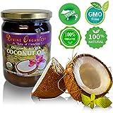 Divine Organics 16oz Coconut Oil - Certified Organic, non-GMO, Extra Virgin...