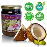 Tropical Traditions Coconut Oil Divine Organics 16oz Coconut Oil - Certified Organic, non-GMO, Extra Virgin - No Chemicals