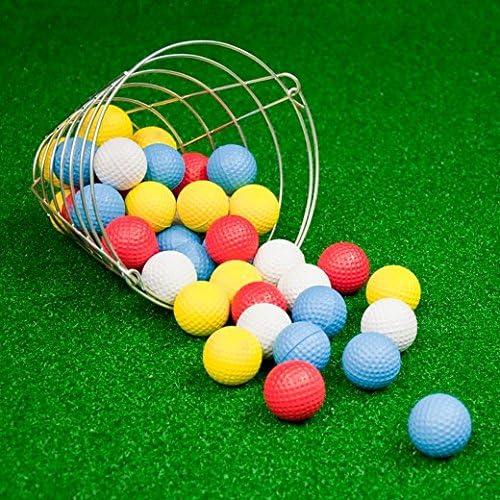 JEF World of Golf Foam Practice Golf Balls with Metal Range Bucket