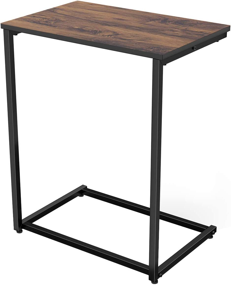 - Amazon.com: Homemaxs C Table Sofa Side End Table Wood Finish Steel