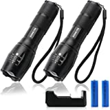 DONLYN LED Flashlights for Emergencies[2 Pack], [Can be Submerged in Water] Waterproof Flashlights 3000 High Lumens for Outdo