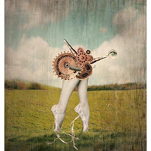 Pitaara Box Classic Ballerina in A Ballet Slippers Peel & Stick Vinyl Wall Sticker 20 X 21.2Inch