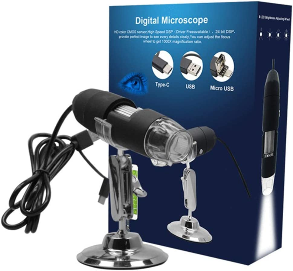MUYEY Three-in-One USB HD Digital Electron Microscope Industrial Microscope with 2 Million Pixels