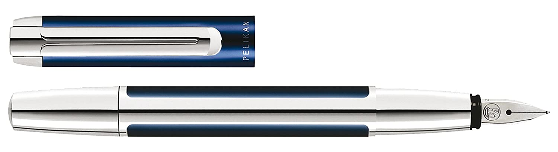 Pelikan 954883 Füllhalter Pura P 40, F, blau-silber