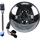 Belt&Road 7 Inch Round Super White LED Headlight for HD Street Glide Fits 2014-2020 Street Glide Special,Hi-Lo Beam…