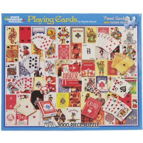 White Mountain Puzzles Playing Cards - 1000 Piece Jigsaw Puzzle