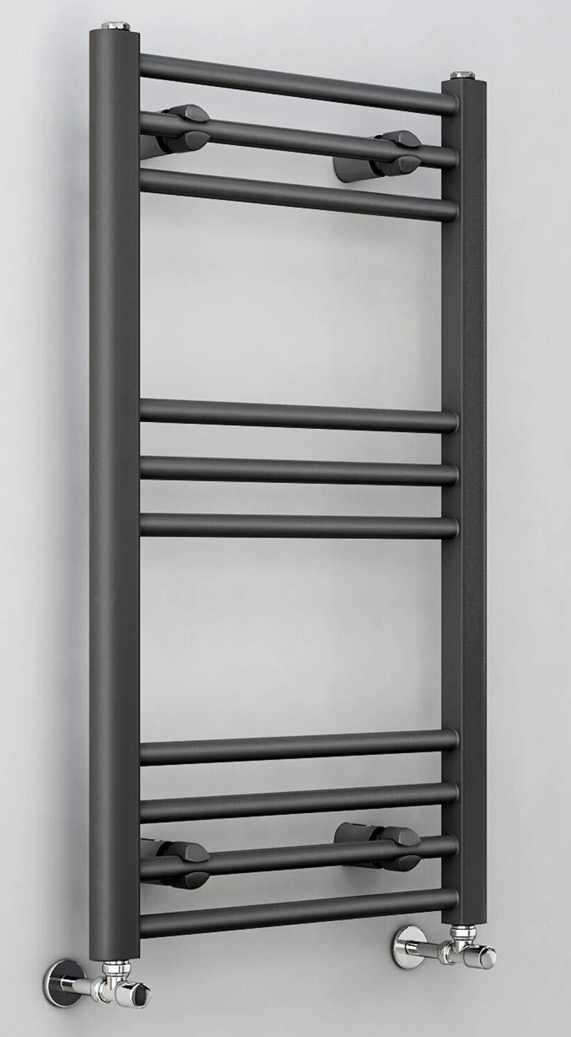 Requena Heated Towel Rail Anthracite Grey Bathroom Ladder Radiator All Sizes Flat, 1200x450