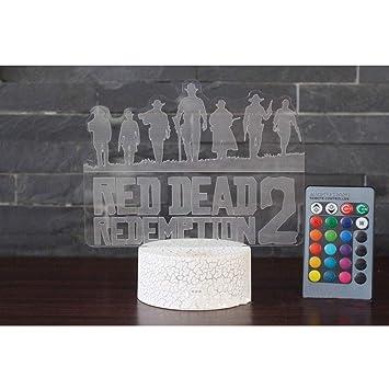 Juego Red Dead Redemption 2 Lampara De Mesa 3d Para Ninos Adultos