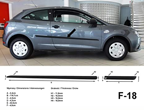 Spangenberg 370001812 - Listones Laterales para Seat Ibiza V de 3 Puertas (Modelos a Partir