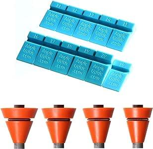 Wedgek AZ4 Angle Guides Combo, Blue for Sharpening Stones, Orange for Rods