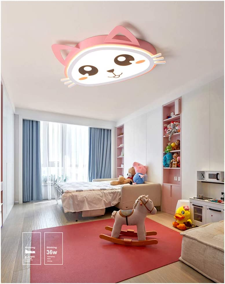 36W Cartoon LED Deckenleuchte Nette Katze Deckenleuchte Mit Fernbedienung dimmbar Kinderzimmerlampe Schlafzimmer-Augenschutzlampe Jungen M/ädchen Schlafzimmer Lampen D52CM W40CM