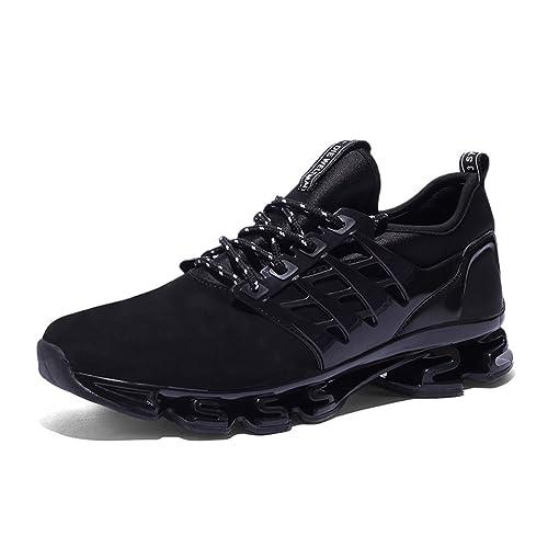 GOMNEAR Zapatos para Correr para Hombre EN Montaña y Asfalto Aire Libre y Deportes Zapatillas de Running Padel: Amazon.es: Zapatos y complementos
