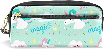 BENNIGIRY Estuche con unicornio, estuche para lápices y bolígrafos, suministros de viaje, cosméticos, neceser sin costuras: Amazon.es: Oficina y papelería