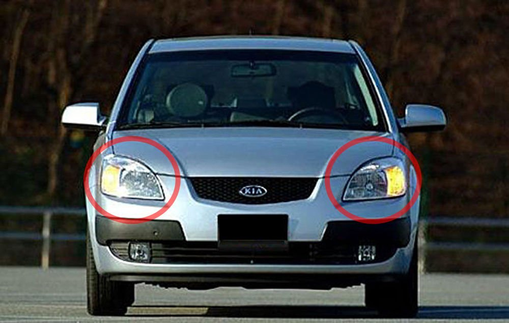 Sell by Automotiveapple, OEM Genuine Head Light Lamp Assembly LH RH 2-pc Set For 2006 - 2011 Kia Rio : Pride
