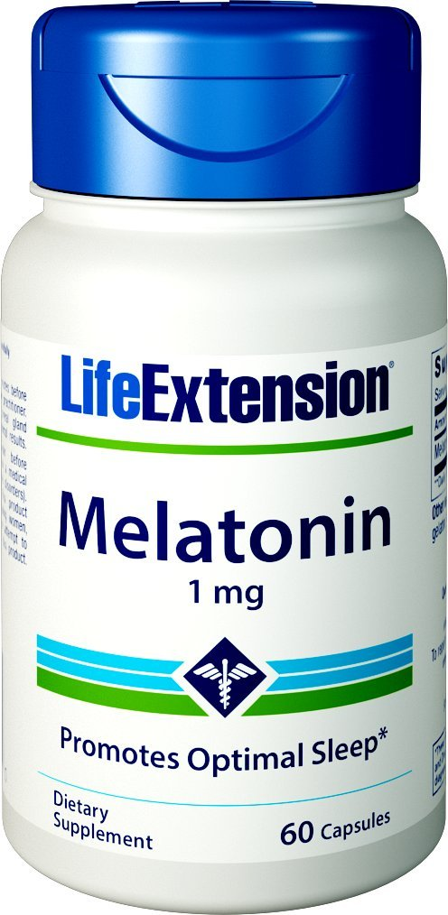 Life Extension Melatonin 1 Mg, 60 Capsules by Life Extension (Image #1)