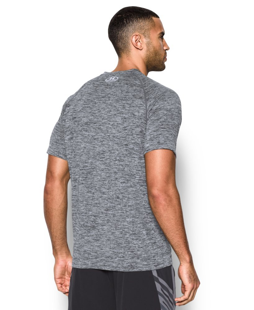 Under Armour Men's Tech Short Sleeve T-Shirt, Black /White, XXXX-Large Tall by Under Armour (Image #1)