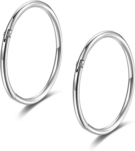 FORYOU FASHION Surgical Steel 18G Surgical Steel Nose Hoop Earring Ring Stud Body Jewelry Piercing 10mm