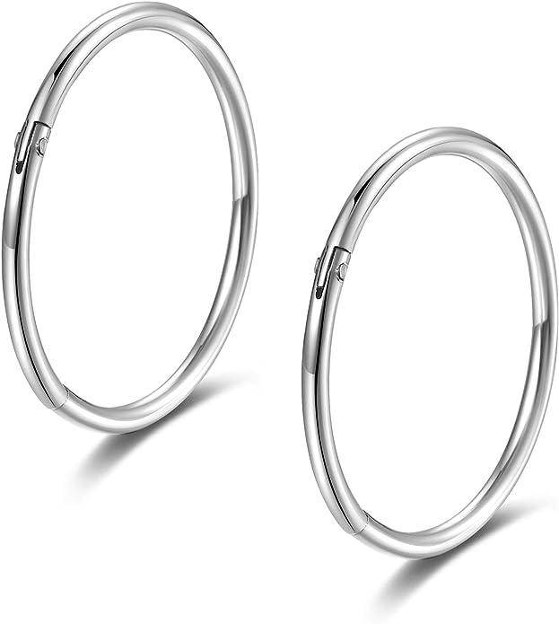 - 10mm 12mm 14mm 16mmSteel Hinged Piece Clicker2.0mm Segment Ring 12g