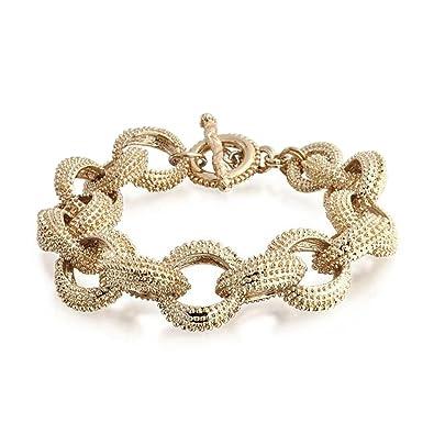 915e74ec0 Amazon.com: Bling Jewelry Fashion Open Oval Chain Link Chunky Matt ...