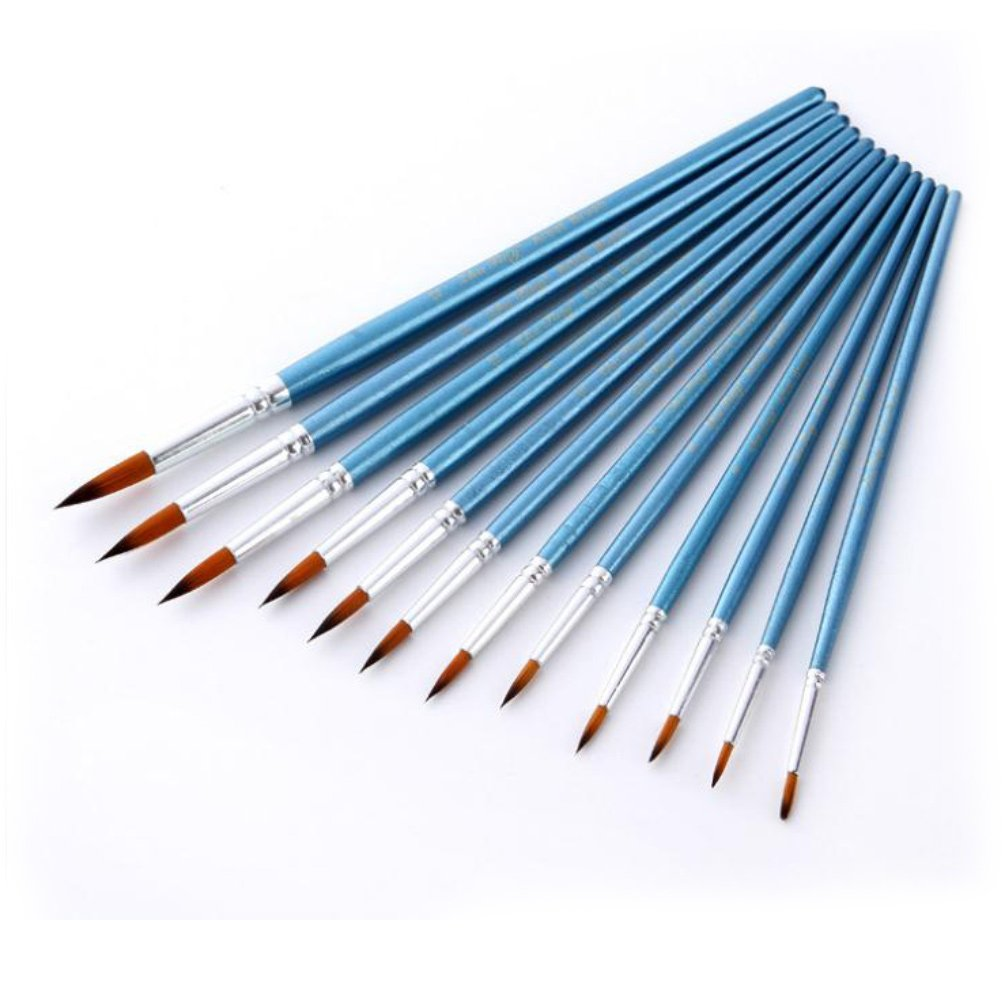 StarVast Painting Brushes, 12pcs Professional Pointed Paint Brush Set for Watercolor, Oil, Acrylic, Crafts, Rock, Nail, Face Painting and Gouache 4336963677