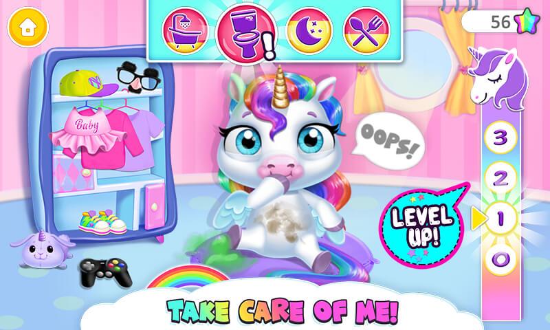 My Baby Unicorn - Cute Rainbow Pet Care & Dress Up