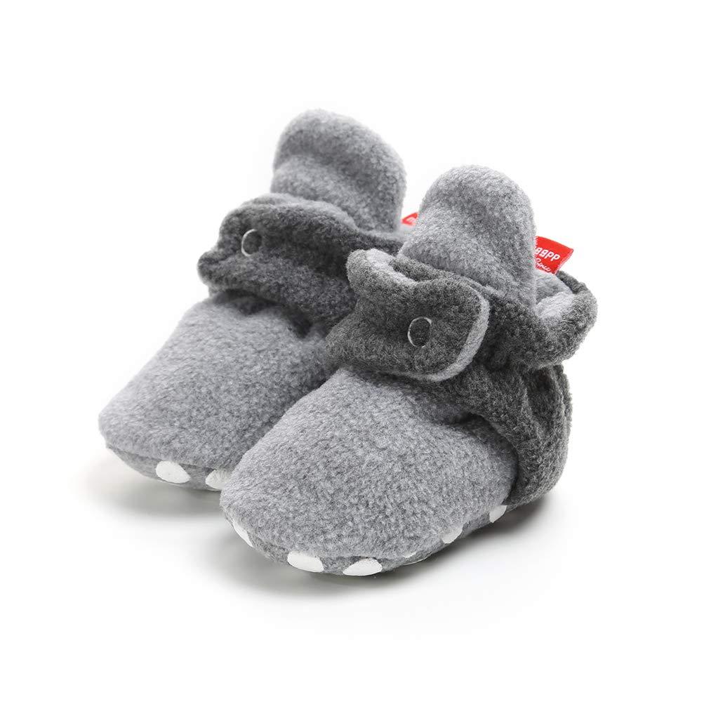 Botas de Ni/ño Calcet/ín Invierno Soft Sole Crib Raya de Caliente Boots de Algod/ón para Beb/és